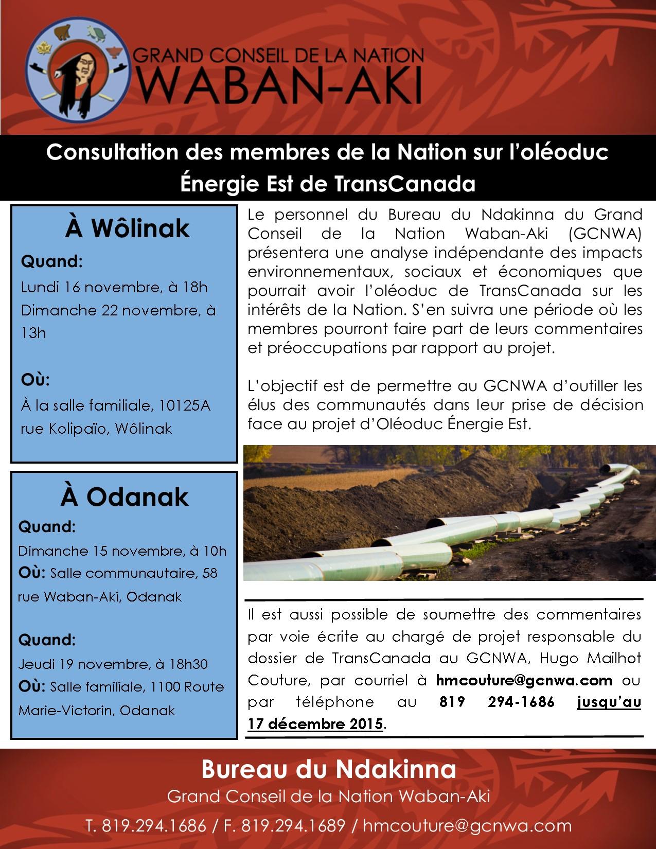 Consultation_Oléoduc ÉnergieEst