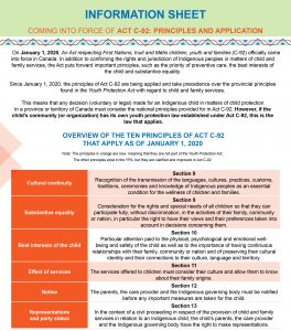 Information sheet - Act C-92: Principles and application